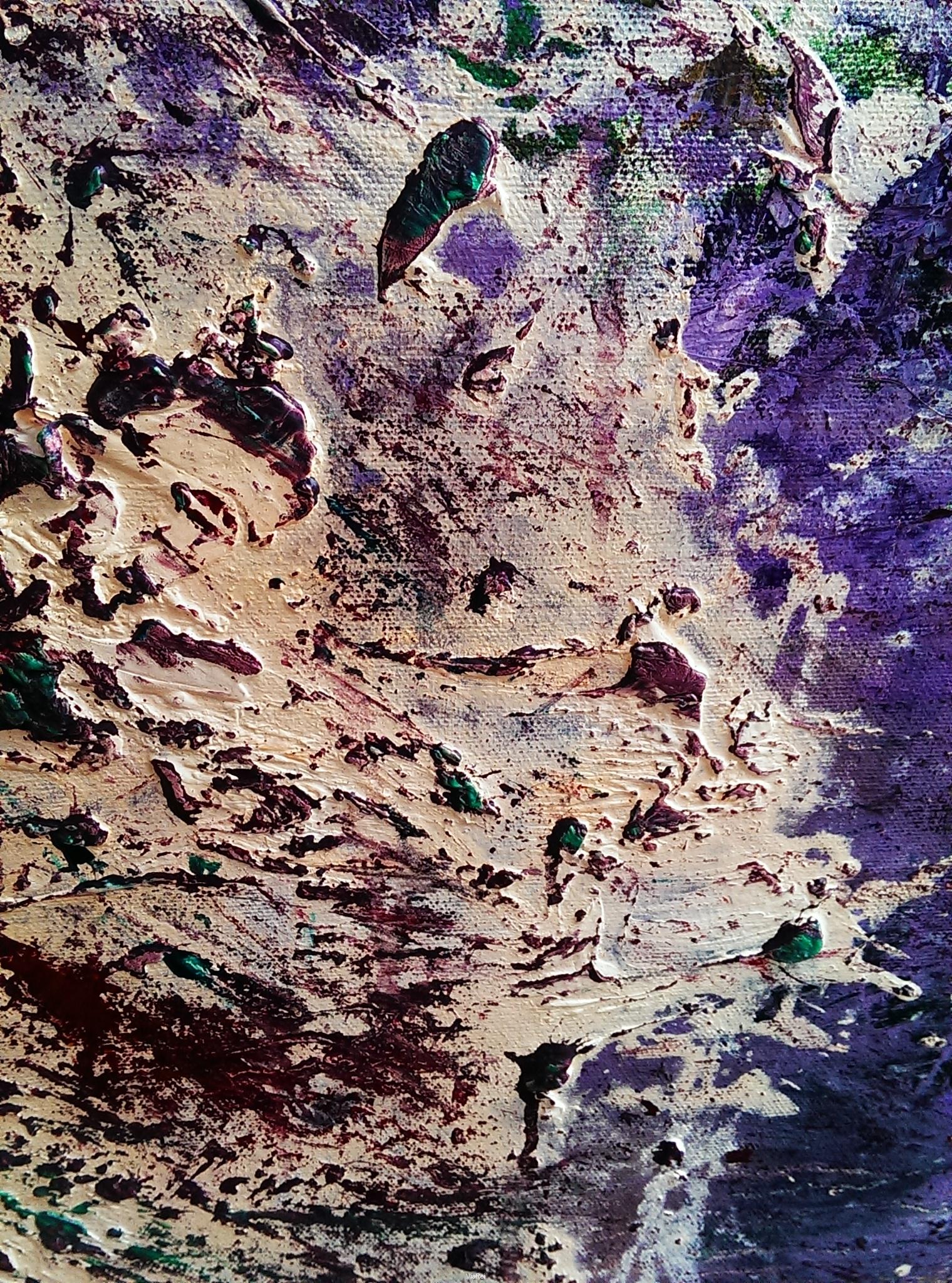 Ölgemälde 100x160cm Frau im Kleid_Fragment 2017