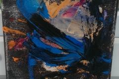 Ölgemälde Blau 20cm 20cm 2016