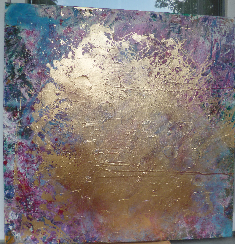 Abstrakt in Gold